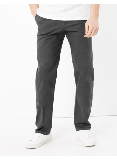 Marks & Spencer Regular Fit Streç Chino Pantolon Gri